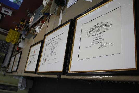 Diplomas - corporate framing